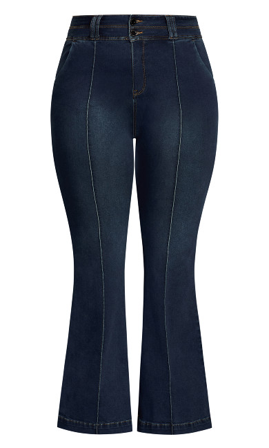 Harley Flared Jean - dark denim