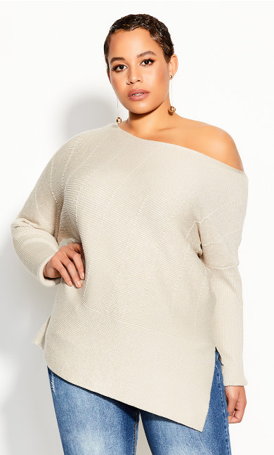 Plus Size Lean In Jumper - cameo