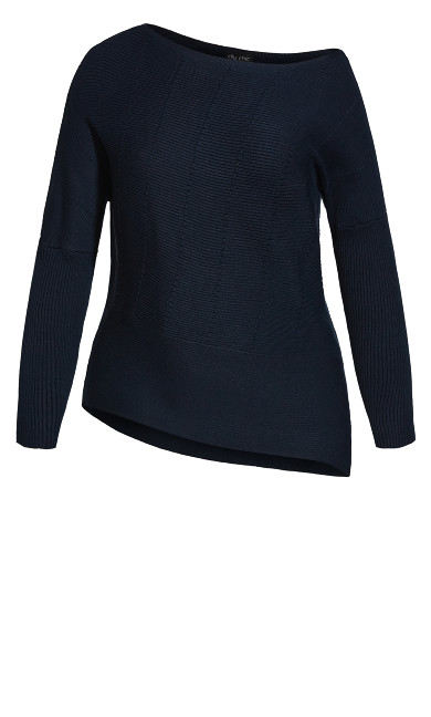 Lean In Jumper - navy