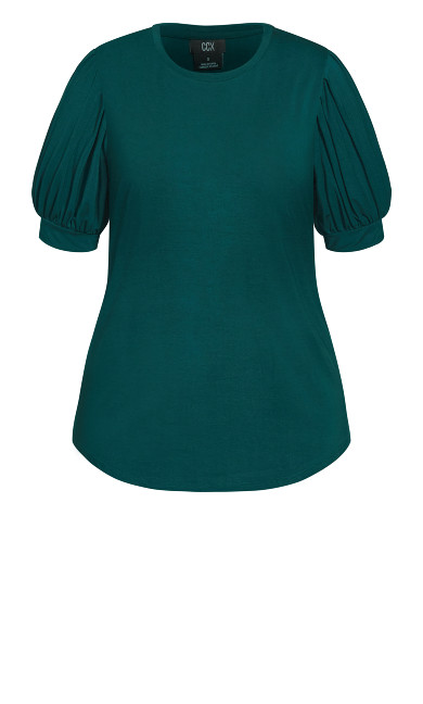 Sweet Sleeve Top - emerald