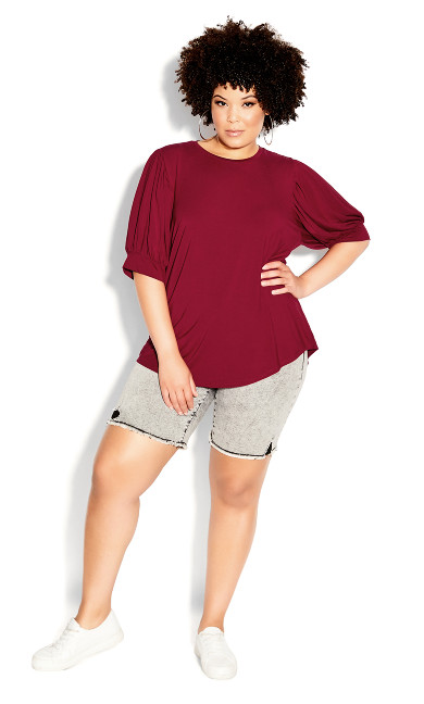 Sweet Sleeve Top - ruby