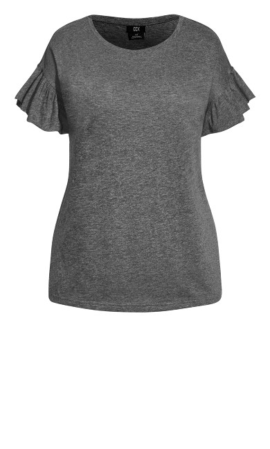 Cutie Sleeve Top - charcoal