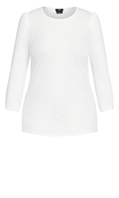 Puff Sleeve Top - ivory