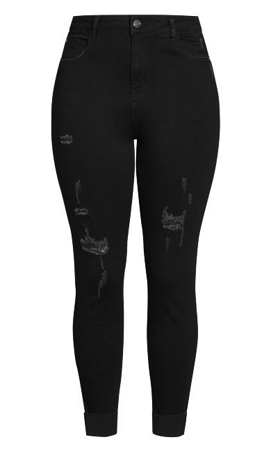 Harley Rebel Skinny Jean - black wash