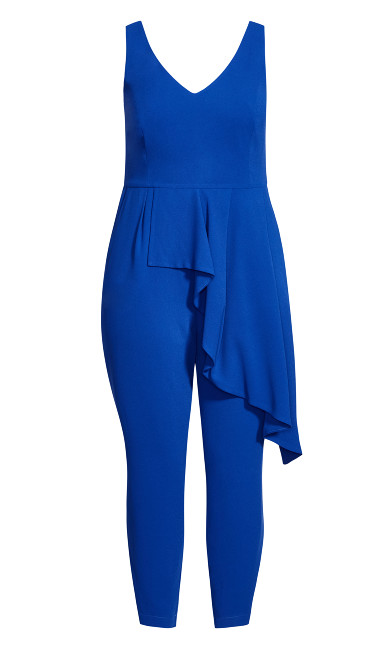 Chic Ruffle Jumpsuit - lapis