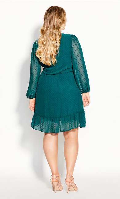 Dobby Ruffles Dress - alpine