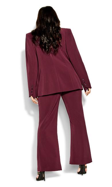 Tuxe Luxe Jacket - claret