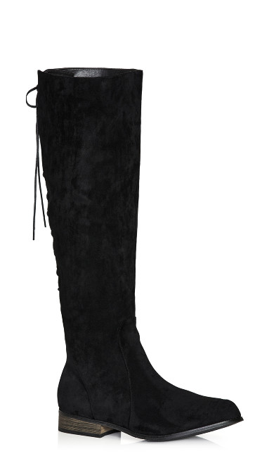Perry Flat Knee Boot - black