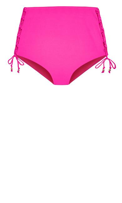Cancun Bikini Tie Brief - fuchsia pink