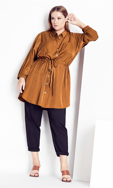 Soft Touch Tunic - walnut