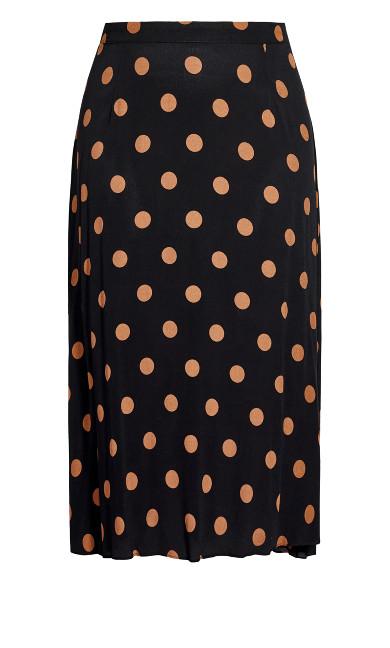 Fudge Spot Skirt - black