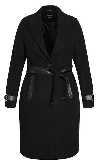 Iconic Coat - black