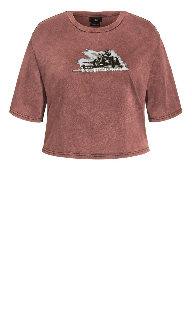 Derby Top - maroon