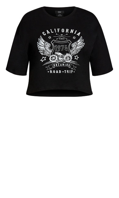 Born To Ride Top - black