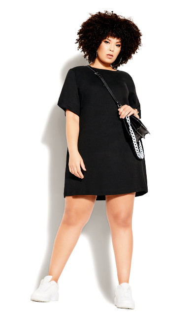Plus Size Casual Daze Dress - black