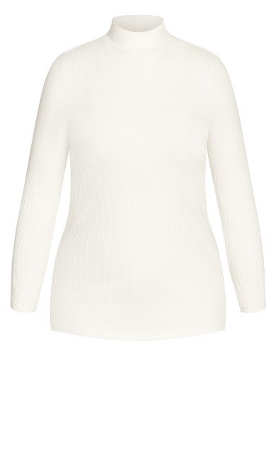Turtle Neck Top - ivory
