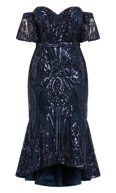 Glistening Dress - navy