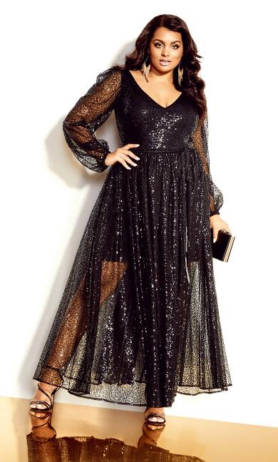 Starry Nights Maxi Dress - black