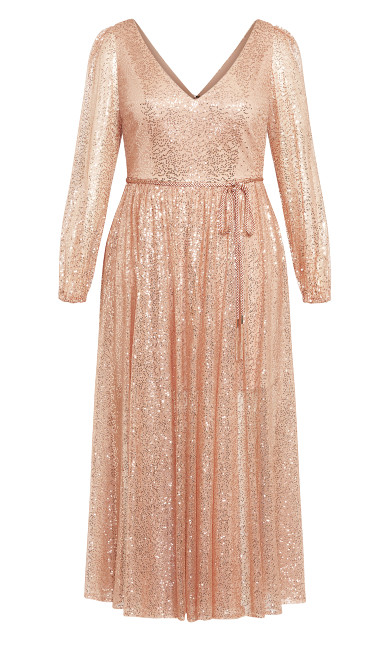 Starry Nights Maxi Dress - rose gold