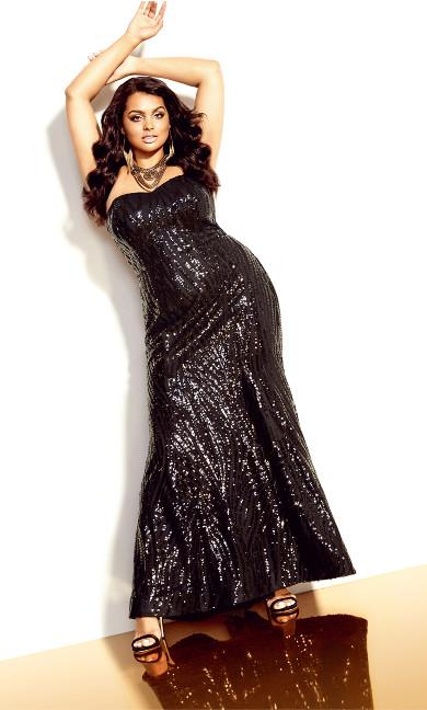 Monroe Maxi Dress - black
