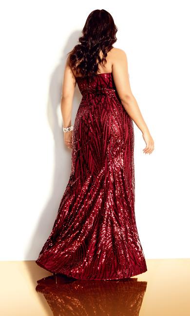 Monroe Maxi Dress - ruby