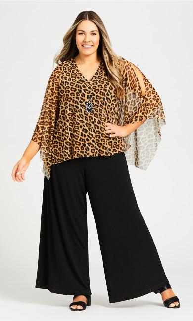Plus Size Evie Jumpsuit - animal