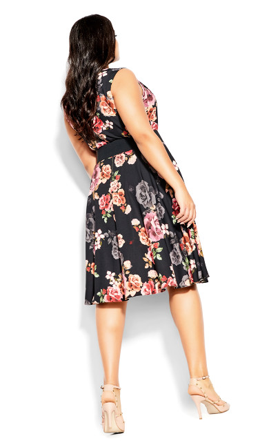 French Bouquet Dress - black
