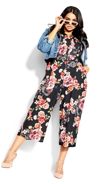 French Floral Jumpsuit -