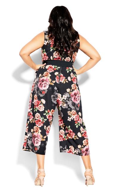 French Floral Jumpsuit - black