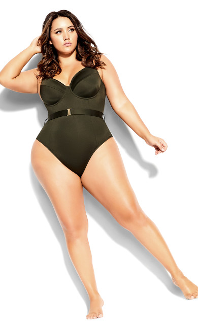 Lily Underwire 1 Piece - military