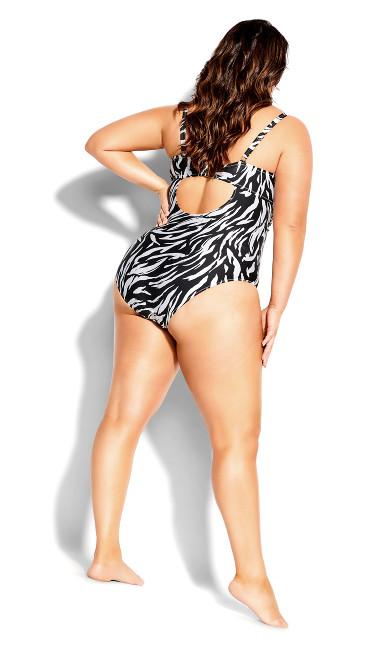 Yasmin Zebra 1 Piece - zebra print