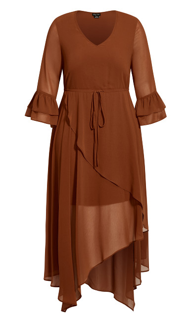 Hidden Treasure Maxi Dress - ginger