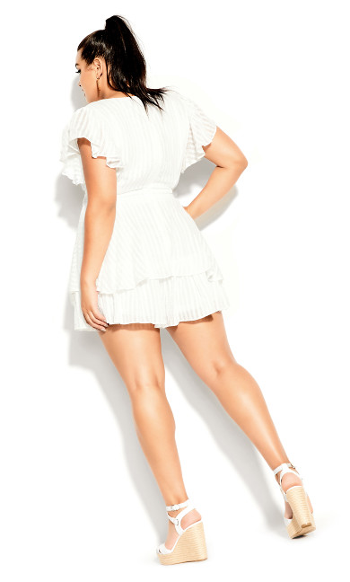 First Date Playsuit - ivory
