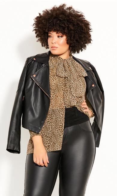 Plus Size Luxe Leopard Top - leopard