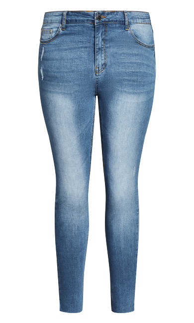 Asha Fray Love Jean - light denim