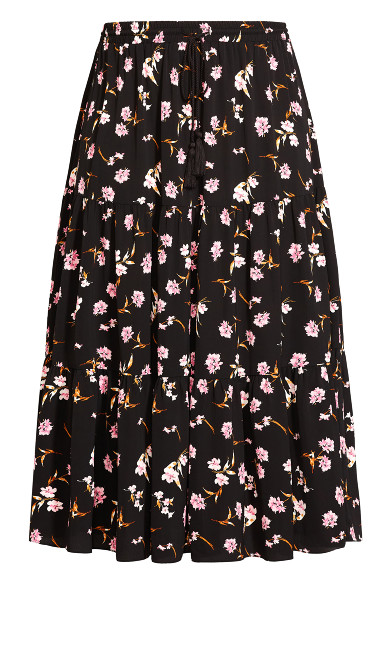 Fresh Posy Skirt - black