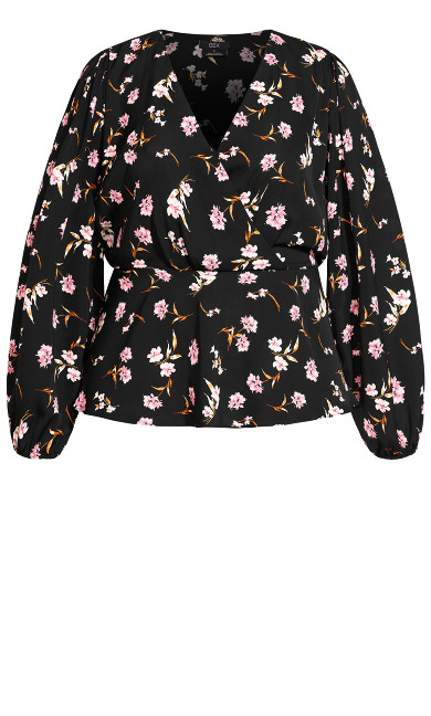 Fresh Posy Top - black