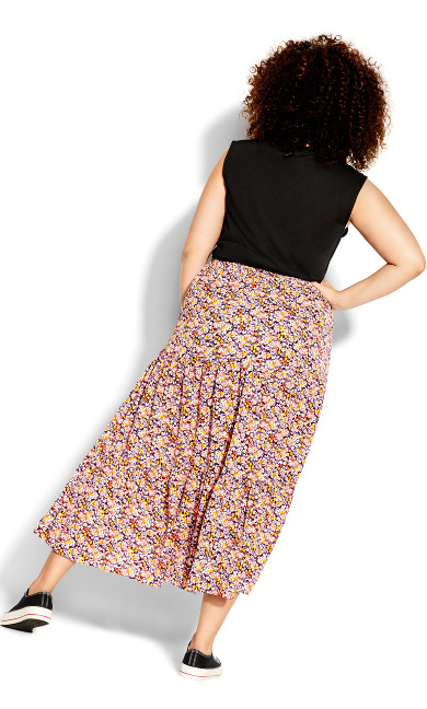 Fresh Ditsy Skirt - purple
