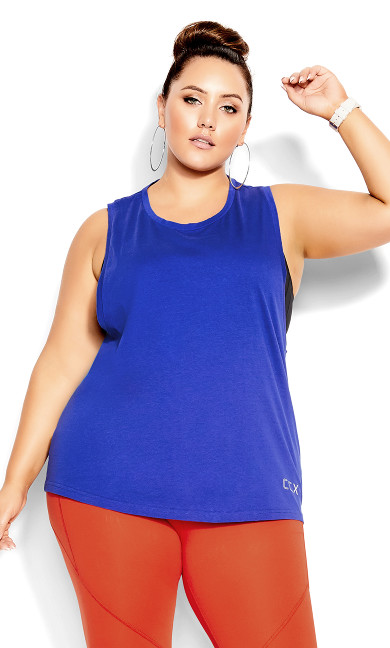 Sweat It Out Top - royal blue