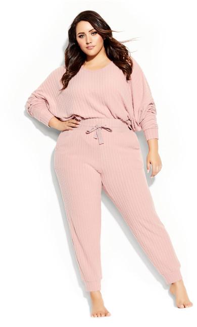 Plus Size Ella Sleep Pant - blush