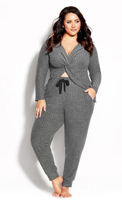 Plus Size Ella Sleep Pant - grey