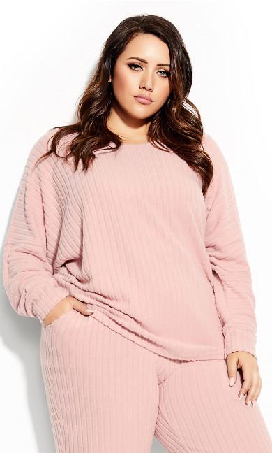 Plus Size Ella Top - blush
