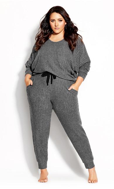 Plus Size Ella Top - grey