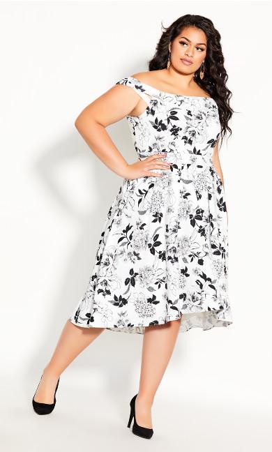Plus Size Flourish Dress - Ivory