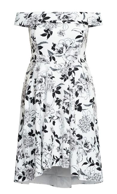 Flourish Dress - ivory