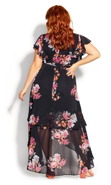Summer Crush Maxi Dress - black