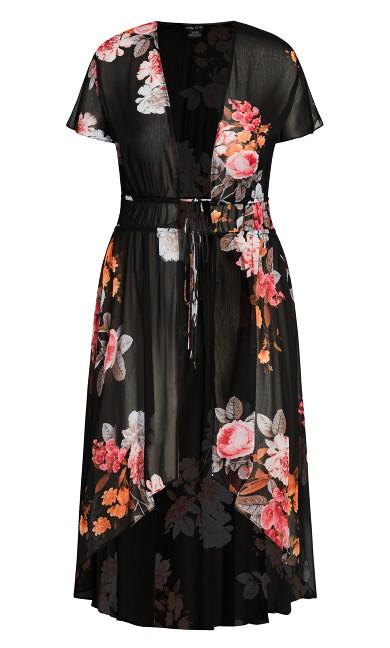 Floral Crush Jacket - black