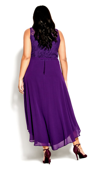 Hi Lo Lover Dress - petunia