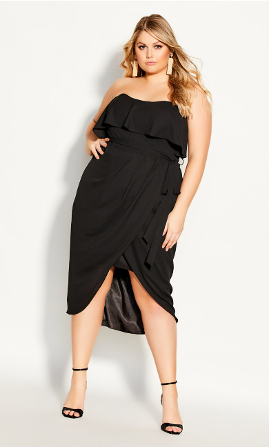 Plus Size Breathtaking Dress - black