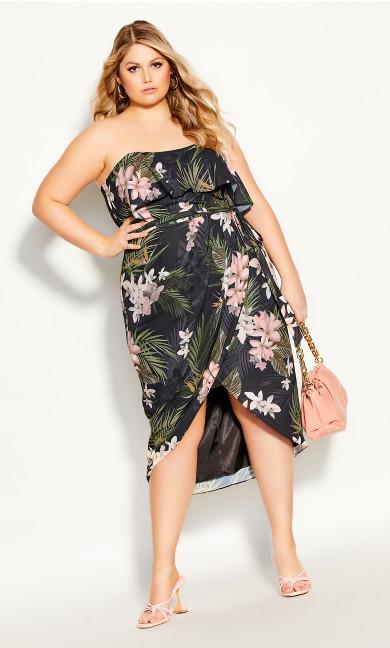 Plus Size Bahamas Dress - black